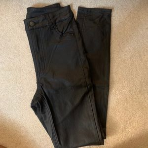 H&M faux leather shiny pants
